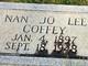 Nan Jo <I>Lee</I> Coffey