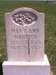 Mary Ann <I>Taylor</I> Warrick