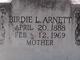 Birdie Lorena <I>Watkins</I> Arnett