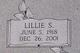 Profile photo:  Lillie <I>Stillinger</I> Black