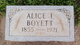 Profile photo:  Alice Irene <I>Burnett</I> Boyett