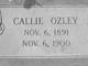 Profile photo:  Callie L. Ozley