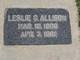 Leslie C Allison