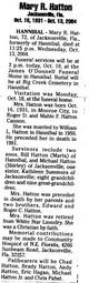 Mary R. <I>Cannon</I> Hatton