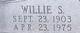 "William Steele ""Willie"" Wright"