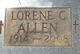 Lorene C. <I>Payton</I> Allen