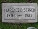 Profile photo:  Florence E. Senner