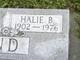 Profile photo:  Halie Bertha <I>Seay</I> Pund