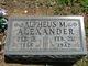 Profile photo:  Alpheus M. Alexander