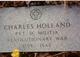 Pvt Charles Holland