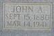 Profile photo:  John Alfred Adams