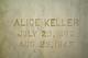 Profile photo:  Alice <I>Hill</I> Keller