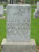 Elizabeth M <I>Knoth</I> Kemmerer