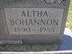 Profile photo:  Altha Elizabeth Bohannon
