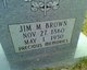"James Monroe ""Jim"" Brown"