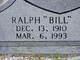 "Profile photo:  Ralph ""Bill"" Abbott"