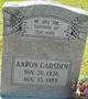 Profile photo:  Aaron Gadsden
