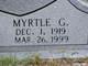 Profile photo:  Myrtle G Abbott