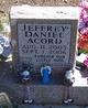 Profile photo:  Jeffrey Daniel Acord