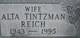 Alta Pauline <I>Tintzman</I> Reich