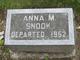 Profile photo:  Anna May Snook