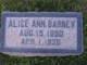 Profile photo:  Alice Ann Barney