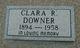 Clara Rebecca <I>Neely</I> Downer