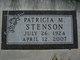 Patricia M Stenson