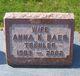 Anna Katherina <I>Trohler</I> Baer
