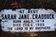 Sarah Jane <I>Ireland</I> Cradduck