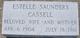 Profile photo:  Estelle <I>Saunders</I> Cassell