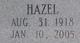 Hazel <I>Hawk</I> Moore