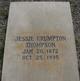 Jessie <I>Crumpton</I> Thompson