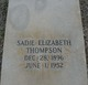 Sadie Elizabeth Thompson