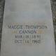 Maggie <I>Thompson</I> Cannon