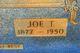 "Josiah Travis ""Joe"" Bagwell"