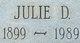 Julie D <I>O'Brien</I> Decker