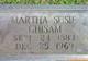 Martha Susan <I>Green</I> Chisam