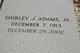 Profile photo:  Shirley J. Adams, Jr