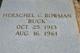 "Profile photo:  Herschel C. ""Buck"" Bowman"