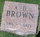 Profile photo:  A. D. Brown