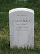 """Ramona Elizabeth """"Mona"""" <I>White</I> Rhodes"""