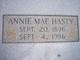 Annie Mae <I>Gamble</I> Hasty