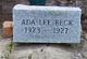 Profile photo:  Ada Lee Beck