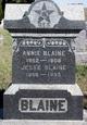 "Anna Lavina ""Annie"" <I>Havens</I> Blaine"