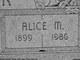 Profile photo:  Alice M Tyner