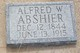 Profile photo:  Alfred Washington Abshier