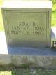 Profile photo:  Ada Susan <I>Biggers</I> Burford