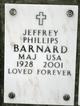 Profile photo: Maj Jeffrey Phillips Barnard