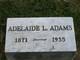 """Adelaide L. """"Addie"""" <I>Breighner</I> Adams"""
